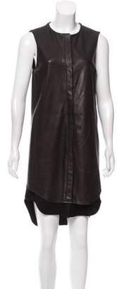 Rag & Bone Leather Shirt Dress
