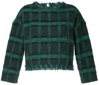 Coohem tartan tweed sweater