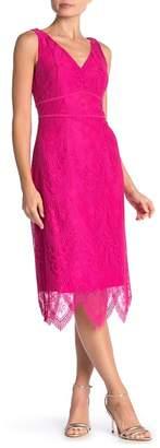 Nanette Lepore NANETTE Scallop Lace Midi Dress