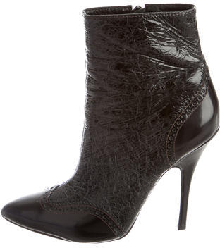 Tory BurchTory Burch Crackled Ankle Boots