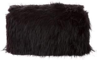 DSQUARED2 Fur-Trimmed Box Clutch