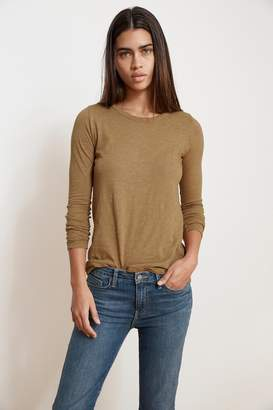 Velvet by Graham & Spencer LIZZIE ORIGINAL SLUB LONG SLEEVE TEE