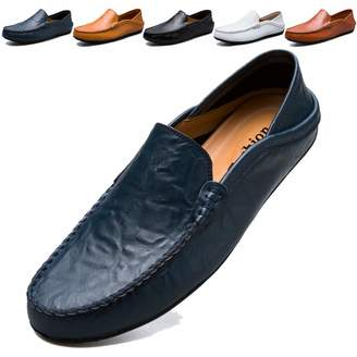 ff4ea150c0c MCICI Mens Loafers Moccasin Driving Shoes Premium Genuine Leather Casual  Slip On Flats Fashion Slipper Breathable