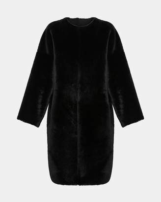 Theory Reversible Shearling Rounded Coat