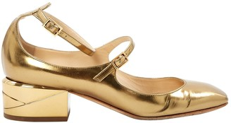 Jimmy Choo Gold Patent leather Ballet flats