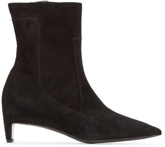 Robert Clergerie Black Admir Ankle Boots $775 thestylecure.com