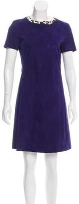 Prada A-Line Suede Dress