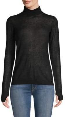 Joie Maili Sheer Wool& Silk Turtleneck