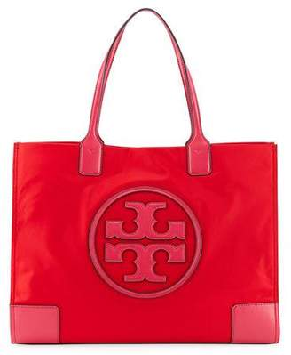 Tory Burch Ella Colorblock Nylon Logo Tote Bag