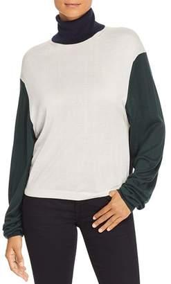 Burberry Mazon Color Block Turtleneck Sweater