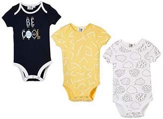 Silly Apples Baby Unisex Cotton Blend 3-Pack Short-Sleeve Bodysuit Onesies (9M)