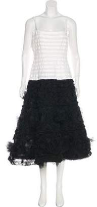 Oscar de la Renta Tulle Cocktail Dress w/ Tags