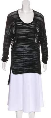Helmut Lang Scoop Neck Long Sleeve Sweater