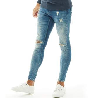 Kings Will Dream Mens Rumer Hipster Denim Jeans Midwash