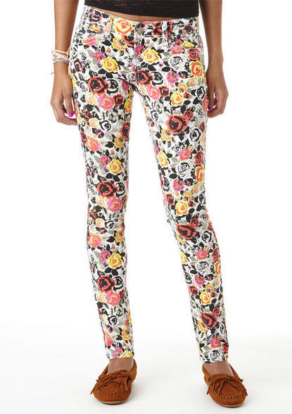 Rose Printed Skinny Jean