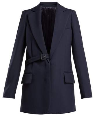 Joseph Gemina Single Breasted Wool Blend Jacket - Womens - Navy