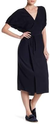 Vince Silk Kimono Wrap Dress