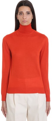 Jil Sander Knitwear In Red Cashmere
