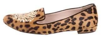 Miu Miu Ponyhair Animal Print Loafers