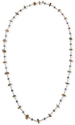 Stephen Dweck Pearl & Labradorite Beaded Station Necklace, 44""