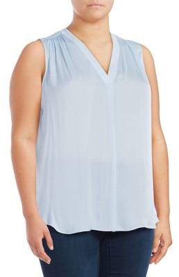 Vince Camuto Plus Sleeveless V-neck Top