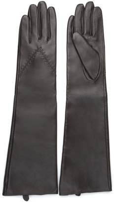 Journee Collection Women's Microfiber-Lined Long Leather Gloves