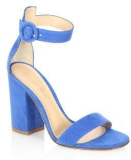 2824a31753b4 Gianvito Rossi Blue Block Heel Women s Sandals - ShopStyle