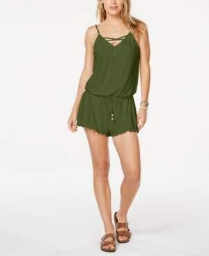 California Waves Juniors' Cover-Up Romper, Created for Macy's Women's Swimsuit