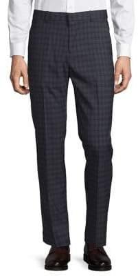 Perry Ellis Portfolio Slim-Fit Plaid Dress Pants