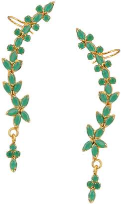 Efulgenz Gold Tone Indian Bollywood Ethnic American Diamond Designer Ear Cuffs Earrings Jewellery for Girls/Women