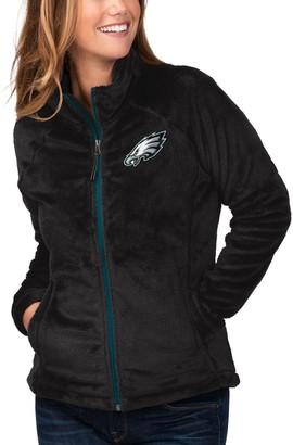 G Iii Women's G-III 4Her by Carl Banks Black Philadelphia Eagles Field Goal Fleece Full-Zip Jacket