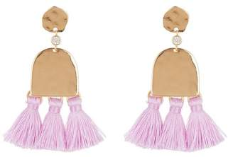 Ettika Geo Tassel Earrings