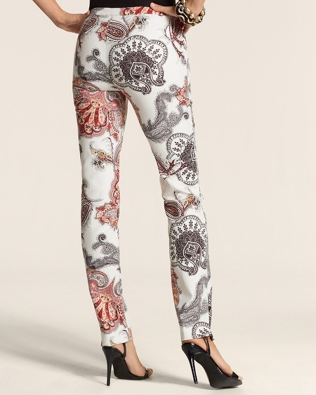 Chico's Smooth Lotus Stamp Ankle Pant