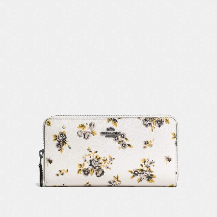 Coach Accordion Zip Wallet With Prairie Print - PRAIRIE PRINT CHALK/DARK GUNMETAL - STYLE