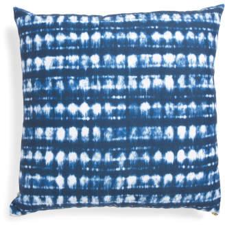 22x22 Shibori Dot Stripe Pillow