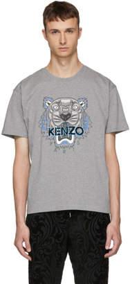 Kenzo Grey Leopard Tiger T-Shirt