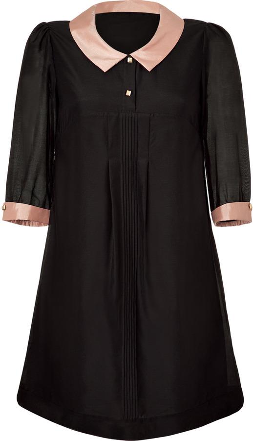 Paul & Joe Sister Rosewood and Black Demure Dress