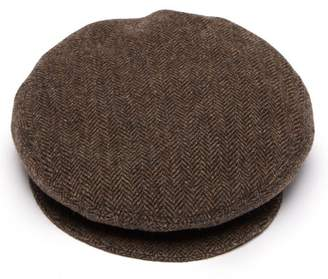 Isabel Marant Gabor Herringbone Wool Flat Cap - Womens - Brown