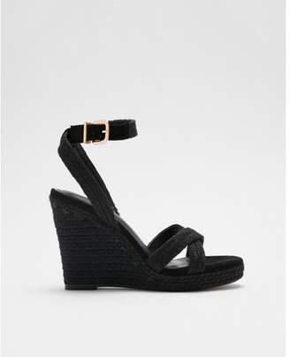 Express braided espadrille wedge sandals