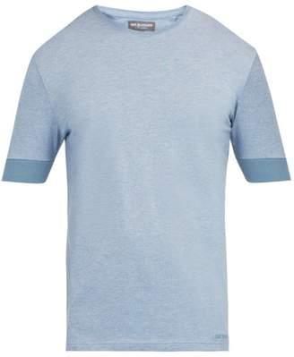 Café Du Cycliste Cafe Du Cycliste - Marion Stretch Jersey T Shirt - Mens - Light Blue