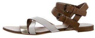 Lanvin Leather Crossover Sandals