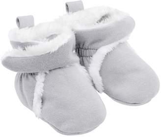 Carter's Baby Gray Wrap Slipper Booties