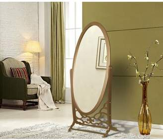 Chic Home York Mirror Modern Free standing Spindle accent legs Floor Mirror, Gold