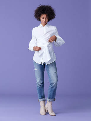 Diane von Furstenberg Sinclair Oxford Cotton Poplin Top