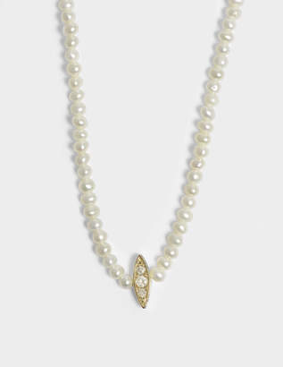 Anissa Kermiche Perle Rare Choker Necklace in 14K Yellow Gold and Diamonds