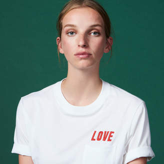 Sandro Short-sleeved T-shirt with embroidery
