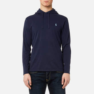 Men's Hooded Long Sleeve TShirt - Newport Navy