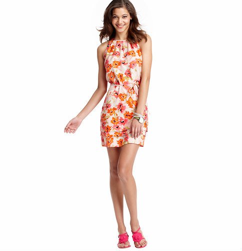 LOFT Floral Dream Print Halter Neck Dress