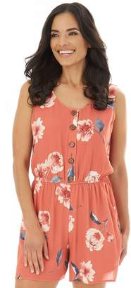 Apt. 9 A Glow Women's Tank Romper with Button Front