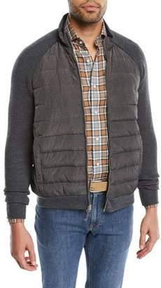 Peter Millar Men's Crown Elite Light Hybrid Puffer Jacket